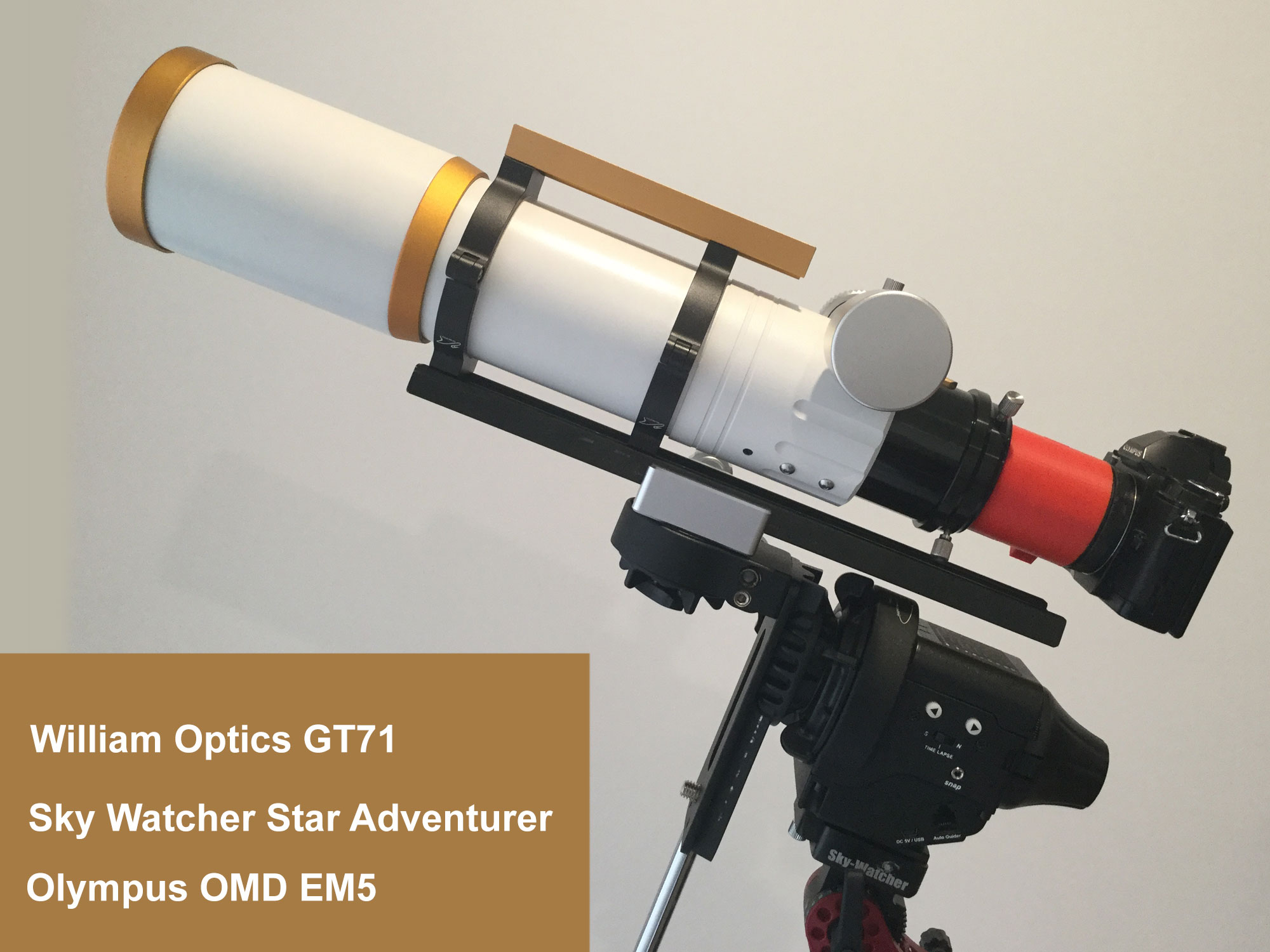 Fusion360 3d printed astrophotography extension tube omd em5