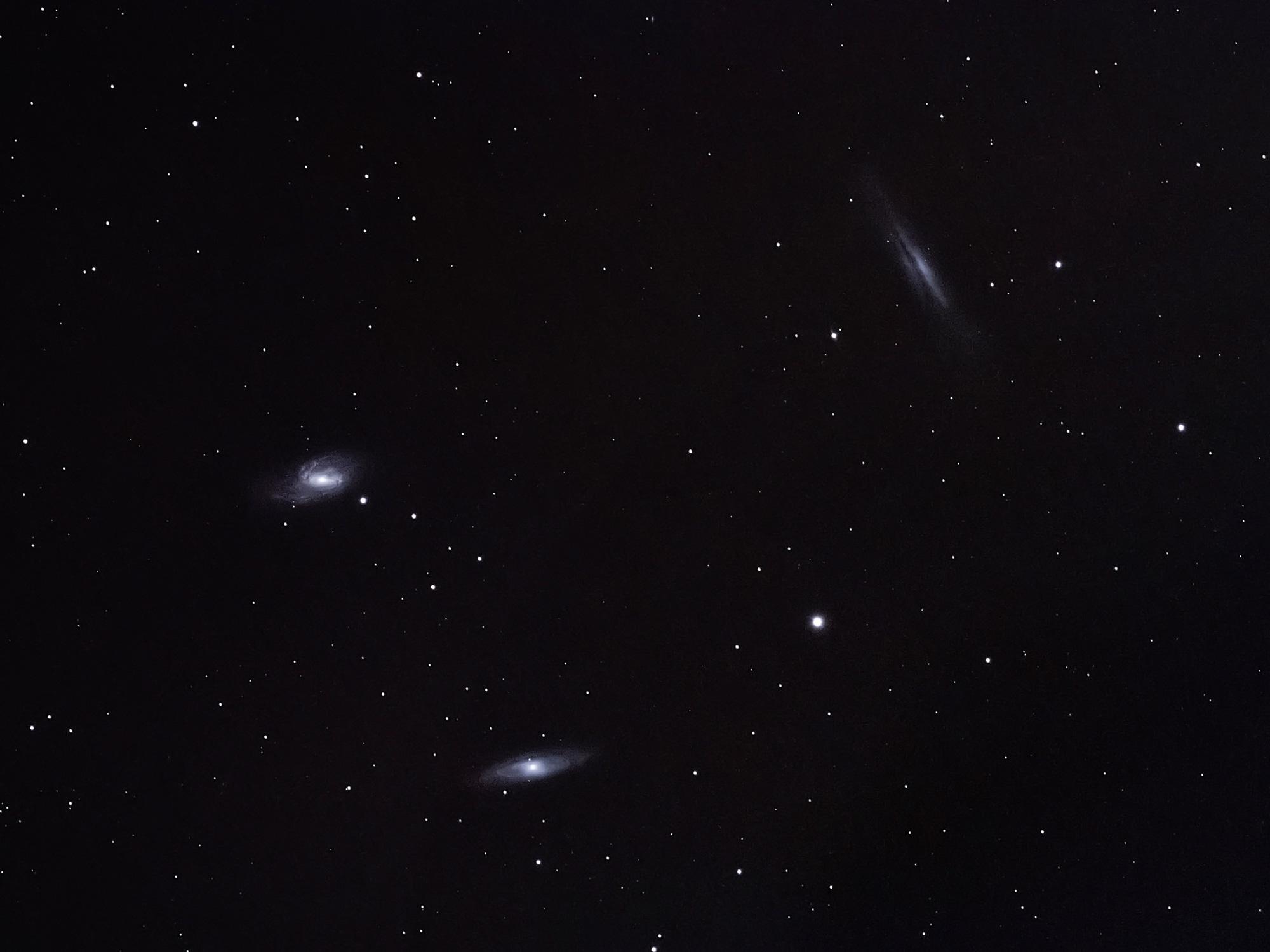 Leo Trio astrophotography William Optics GT71 & ASI 294 MC Pro